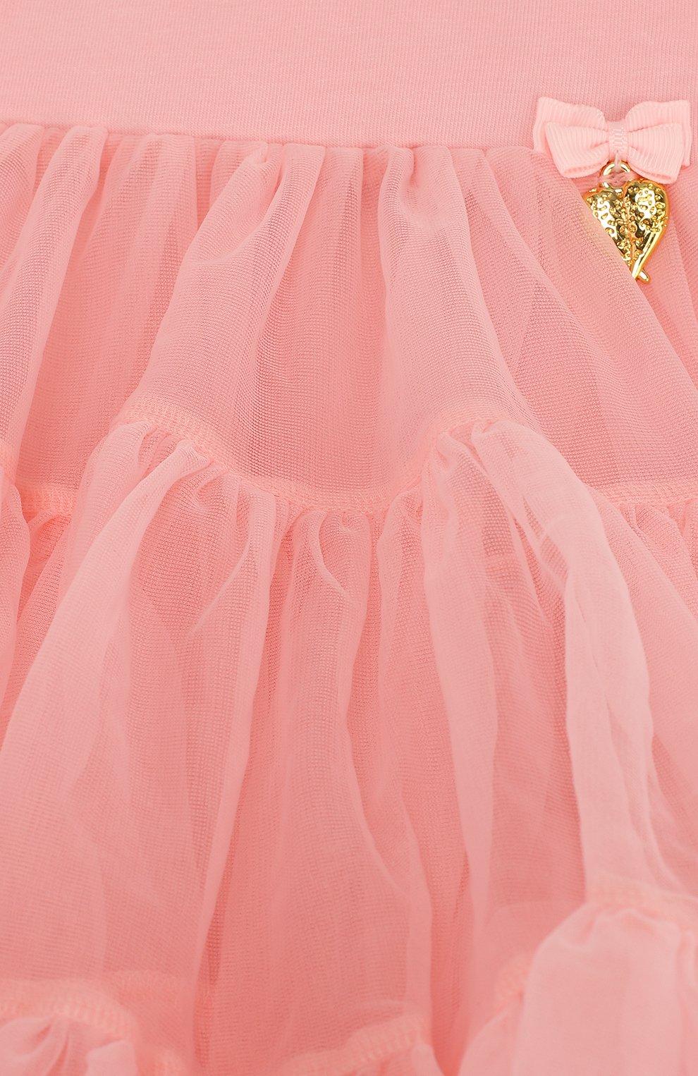 Многослойная мини-юбка свободного кроя с оборкой   Фото №3