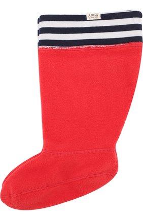Детские носки для резиновых сапог Aigle красного цвета | Фото №1