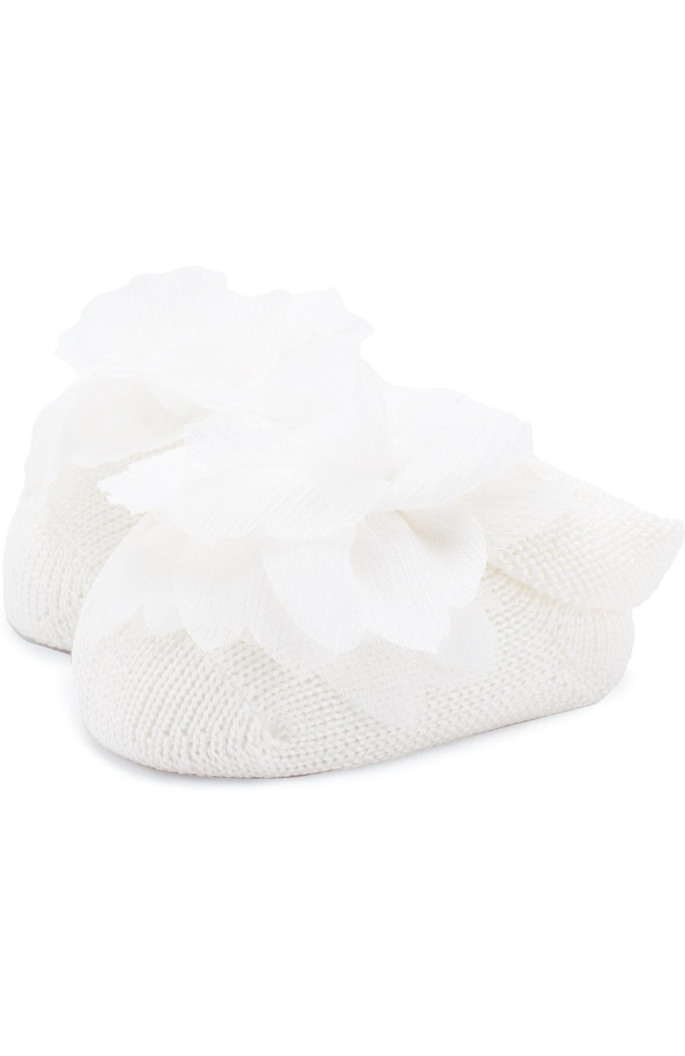Детское льняной комплект из боди с повязкой на голову и пинетками LA PERLA белого цвета, арт. 48566 | Фото 4