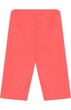 Детские хлопковые брюки с логотипом бренда EA 7 розового цвета, арт. 3ZFP51/FJ01Z | Фото 2