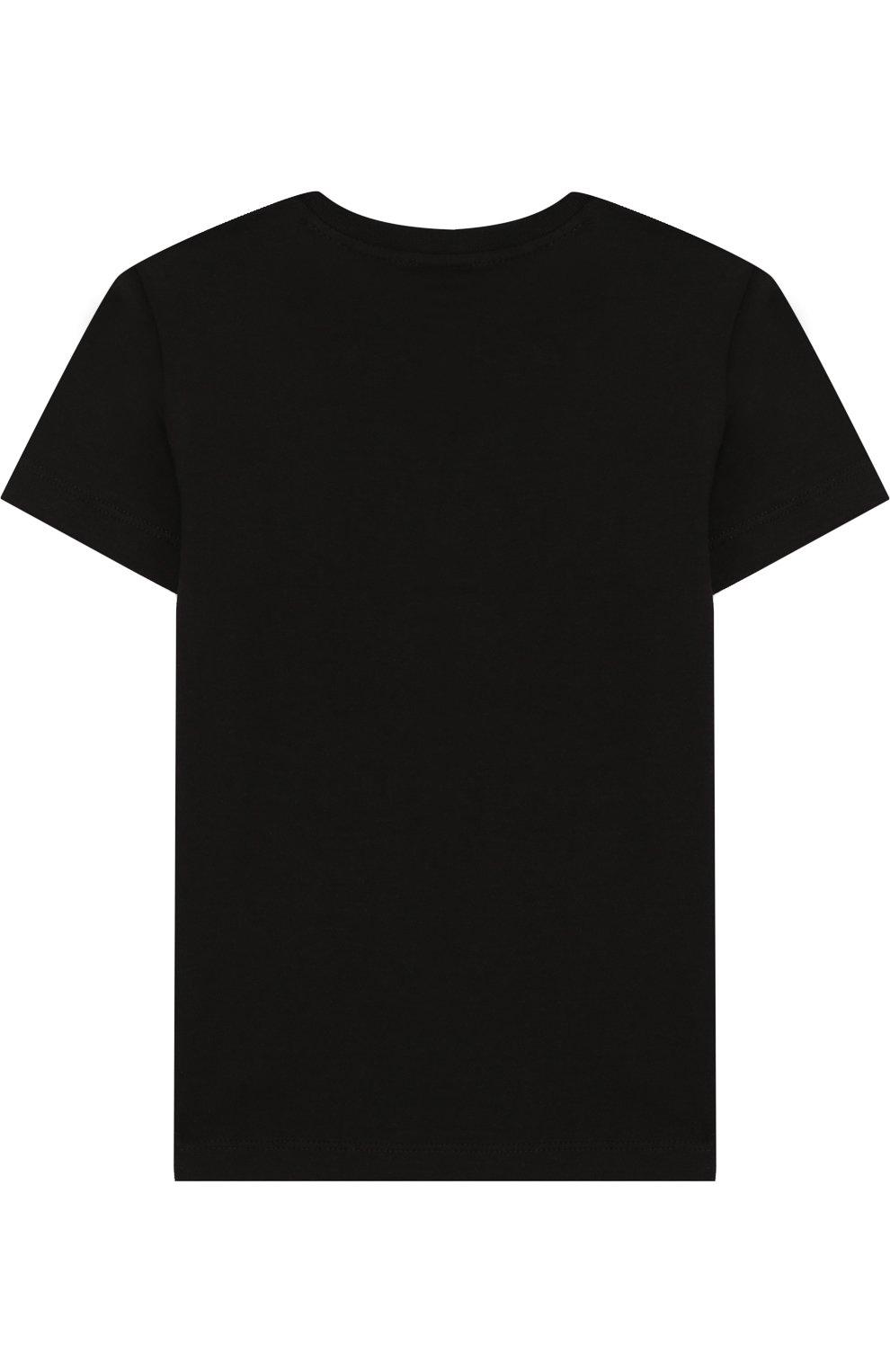 Детская хлопковая футболка с принтом EA 7 черного цвета, арт. 3ZBT64/BJA2Z   Фото 2
