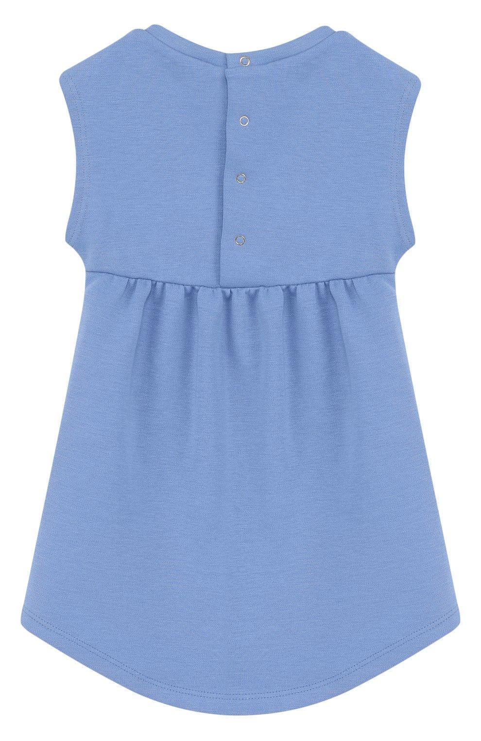 Женская платье с принтом и отделкой пайетками MARC JACOBS (THE) голубого цвета, арт. W02109 | Фото 2