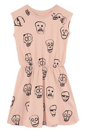 Хлопковое мини-платье с принтом | Фото №1