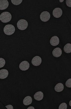 Детское хлопковое платье свободного кроя с принтом NUNUNU черного цвета, арт. NU1785B | Фото 3