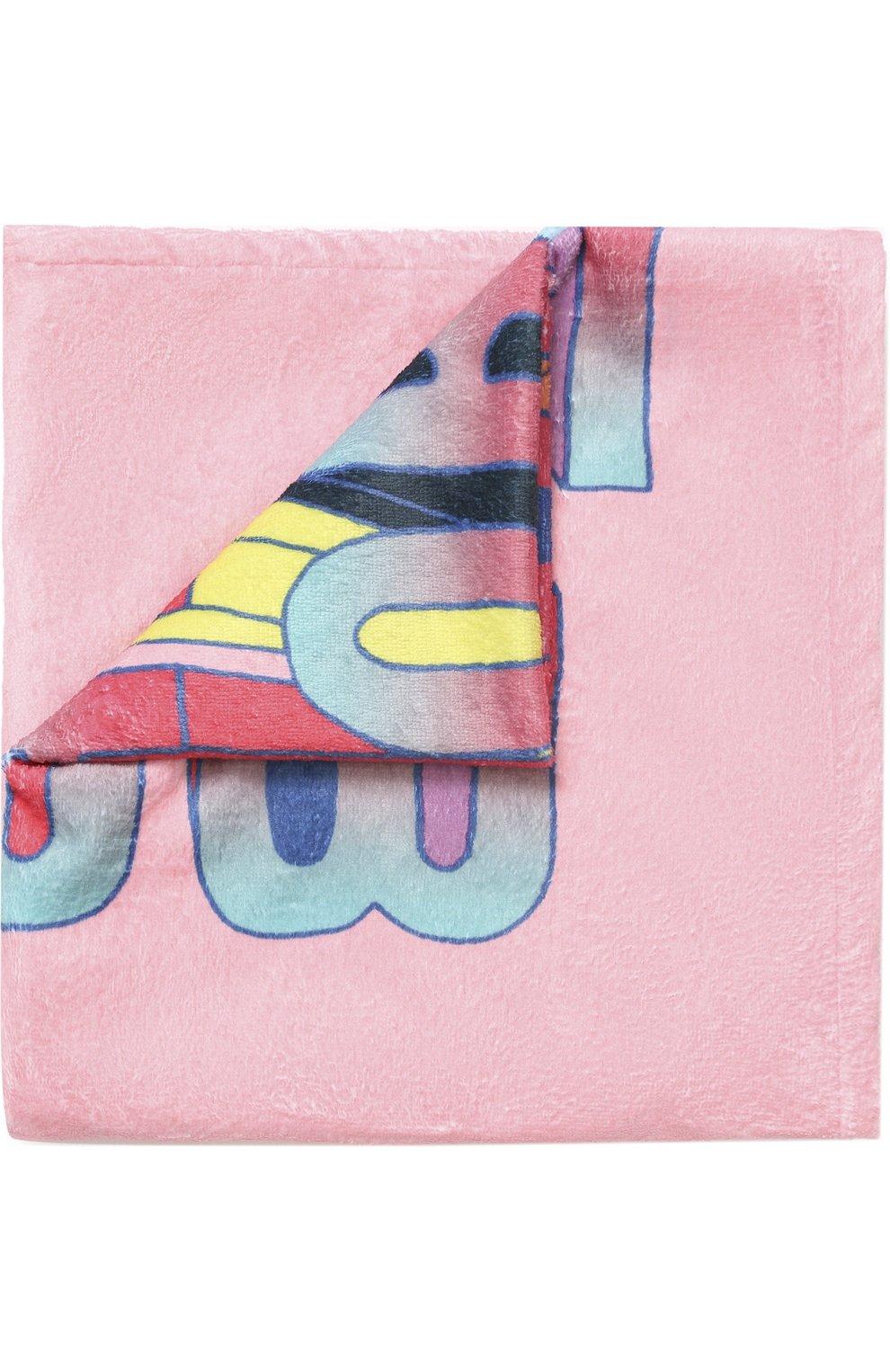 Детского пляжное полотенце с принтом MARC JACOBS (THE) розового цвета, арт. W10123 | Фото 1