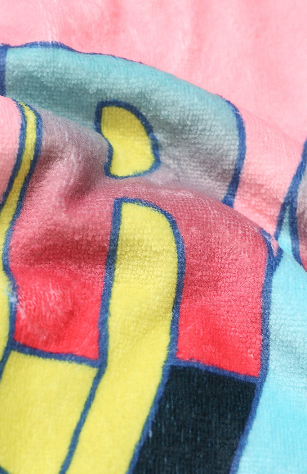 Детского пляжное полотенце с принтом MARC JACOBS (THE) розового цвета, арт. W10123 | Фото 2