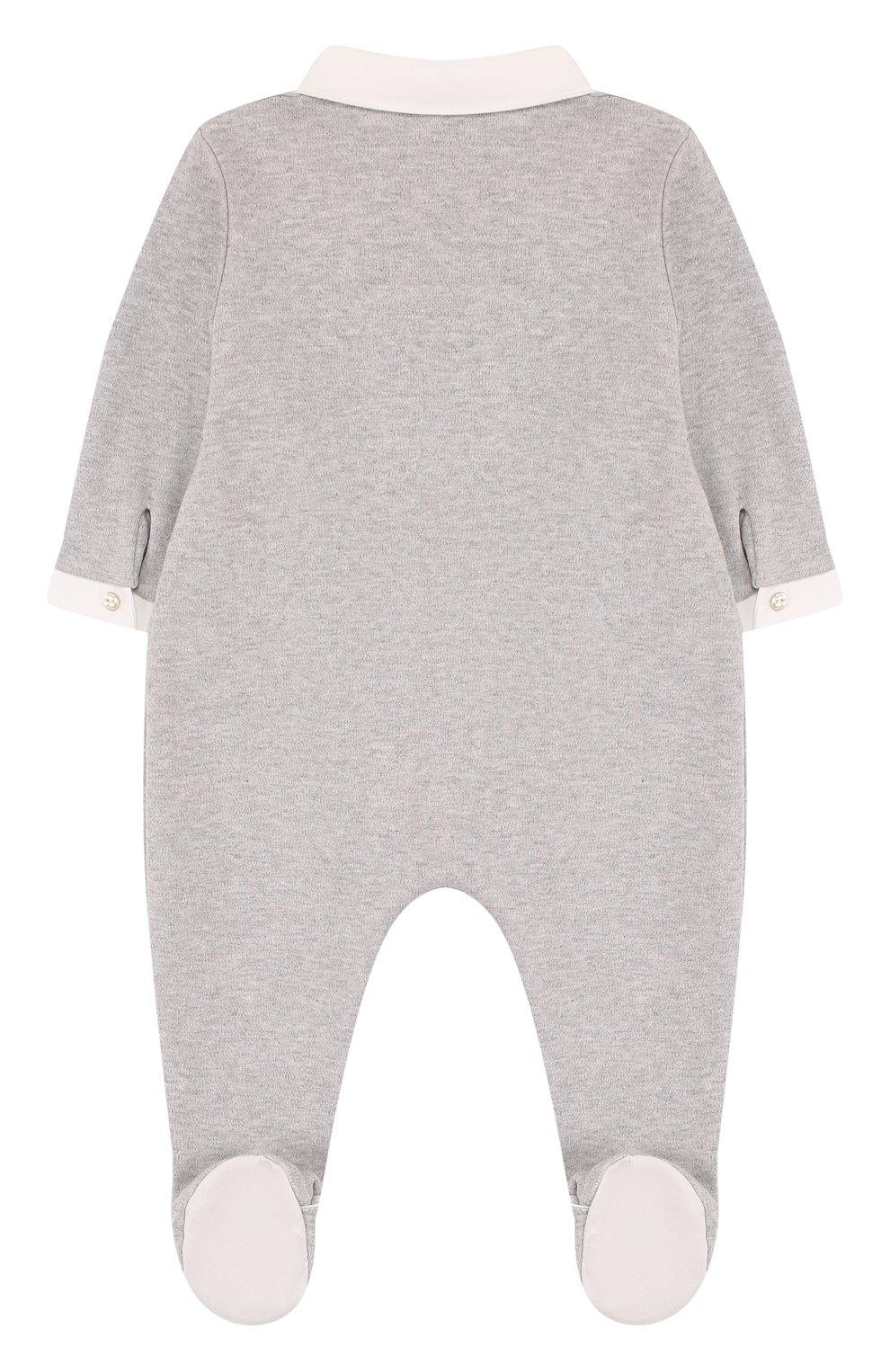 Детский хлопковая пижама TARTINE ET CHOCOLAT серого цвета, арт. TL54131 | Фото 2
