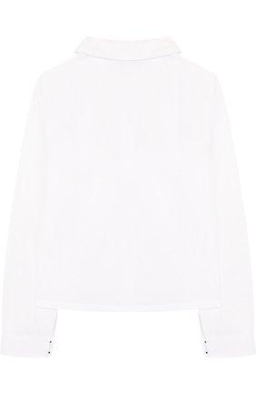 Детская хлопковая блуза с контрастной вышивкой Sonia Rykiel Enfant белого цвета | Фото №1