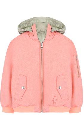Куртка на молнии с капюшоном Gosoaky розового цвета | Фото №1