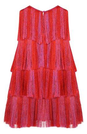 Мини-платье А-силуэта с бахромой | Фото №2