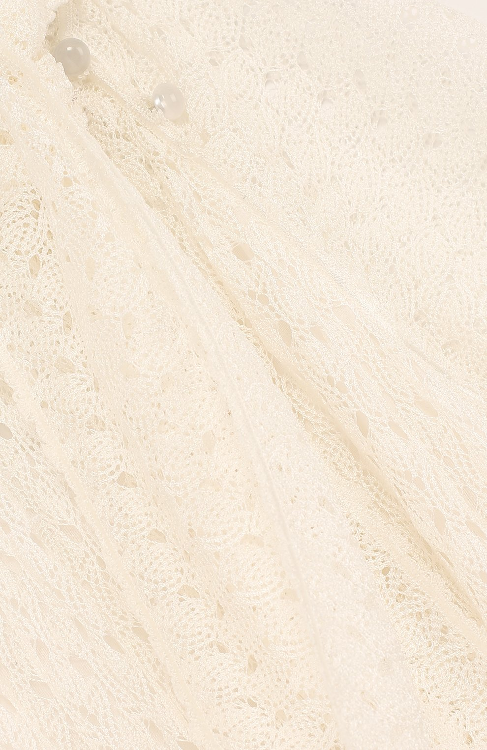 Детское кружевное платье с воротником аскот MISSONI белого цвета, арт. E18.BA.219590 | Фото 3