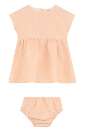 Женский комплект из платья и трусов ALETTA оранжевого цвета, арт. RW88638/1M-18M | Фото 1