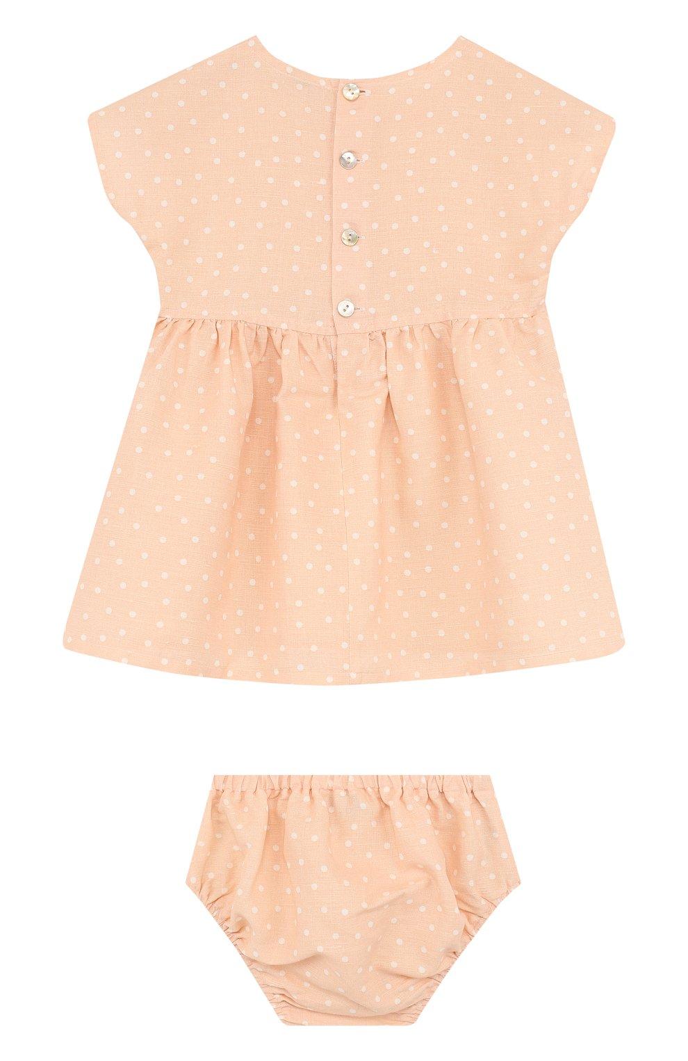 Женская комплект из платья и трусов ALETTA оранжевого цвета, арт. RW88638/1M-18M | Фото 2