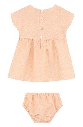 Женский комплект из платья и трусов ALETTA оранжевого цвета, арт. RW88638/1M-18M | Фото 2