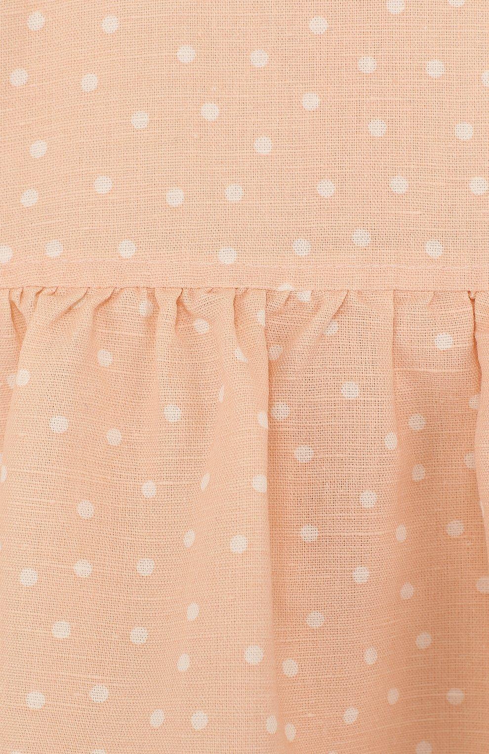 Женская комплект из платья и трусов ALETTA оранжевого цвета, арт. RW88638/1M-18M | Фото 3