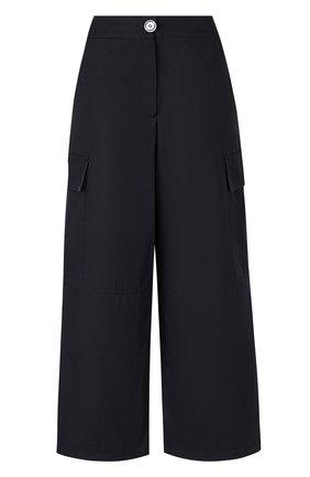Укороченные широкие брюки с карманами   Фото №1