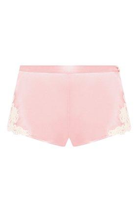 Женские шелковые шорты LA PERLA розового цвета, арт. 0019228 | Фото 1