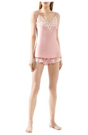 Женские шелковые шорты LA PERLA розового цвета, арт. 0019228 | Фото 2