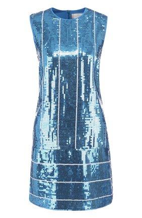Приталенное мини-платье с пайетками | Фото №1