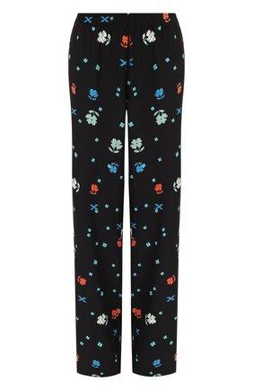 Шелковые брюки прямого кроя с принтом