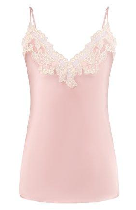 Женская шелковый топ LA PERLA розового цвета, арт. 0019225 | Фото 1