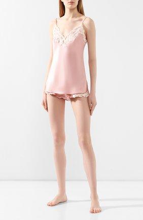 Женская шелковый топ LA PERLA розового цвета, арт. 0019225 | Фото 2