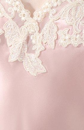 Женская шелковый топ LA PERLA розового цвета, арт. 0019225 | Фото 5