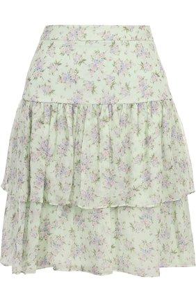 Шелковая мини-юбка с принтом | Фото №1