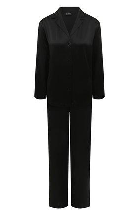 Женская шелковая пижама LA PERLA черного цвета, арт. 0020288   Фото 1