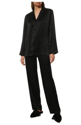 Женская шелковая пижама LA PERLA черного цвета, арт. 0020288   Фото 2