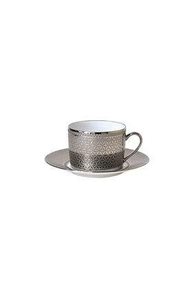Чайная чашка с блюдцем divine BERNARDAUD серебряного цвета, арт. 1388/91 | Фото 1 (Статус проверки: Проверена категория; Ограничения доставки: fragile-2)