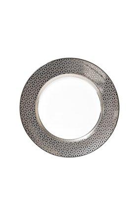 Тарелка обеденная divine BERNARDAUD серебряного цвета, арт. 1388/13 | Фото 1 (Статус проверки: Проверена категория; Ограничения доставки: fragile-2)