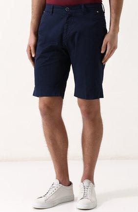 Мужские хлопковые шорты с карманами KITON темно-синего цвета, арт. UPNJSB/J06P78 | Фото 3
