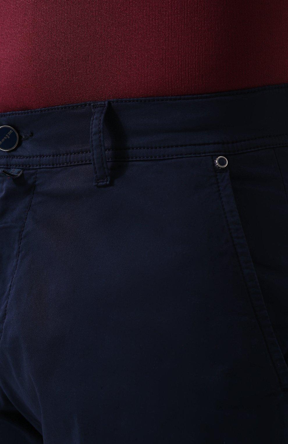 Мужские хлопковые шорты с карманами KITON темно-синего цвета, арт. UPNJSB/J06P78 | Фото 5