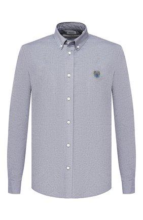 Мужская хлопковая рубашка KENZO темно-синего цвета, арт. 5CH4001LD | Фото 1