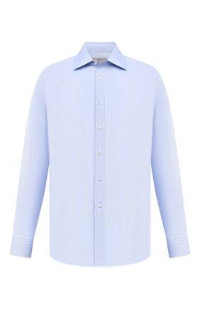 Мужская хлопковая сорочка с воротником кент CANALI голубого цвета, арт. 705/GA00109 | Фото 1