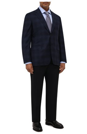 Мужская хлопковая сорочка с воротником кент CANALI голубого цвета, арт. 705/GA00109 | Фото 2