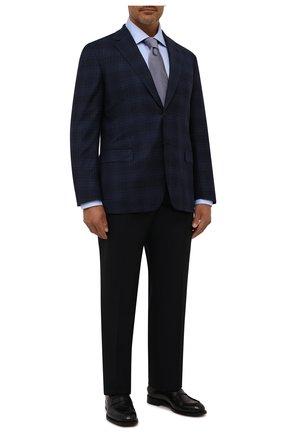 Мужская хлопковая сорочка CANALI голубого цвета, арт. 705/GA00109 | Фото 2 (Статус проверки: Проверена категория, Проверено; Материал внешний: Хлопок; Рукава: Длинные; Длина (для топов): Стандартные; Принт: Однотонные; Случай: Формальный; Манжеты: На пуговицах; Воротник: Акула)