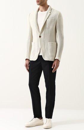 Однобортный хлопковый пиджак Zegna Couture белый | Фото №1