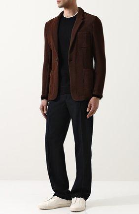 Однобортный хлопковый пиджак Zegna Couture темно-коричневый | Фото №1