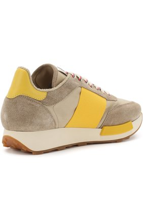 Мужские комбинированные кроссовки на шнуровке MONCLER коричневого цвета, арт. D1-09A-10191-00-019NF | Фото 4