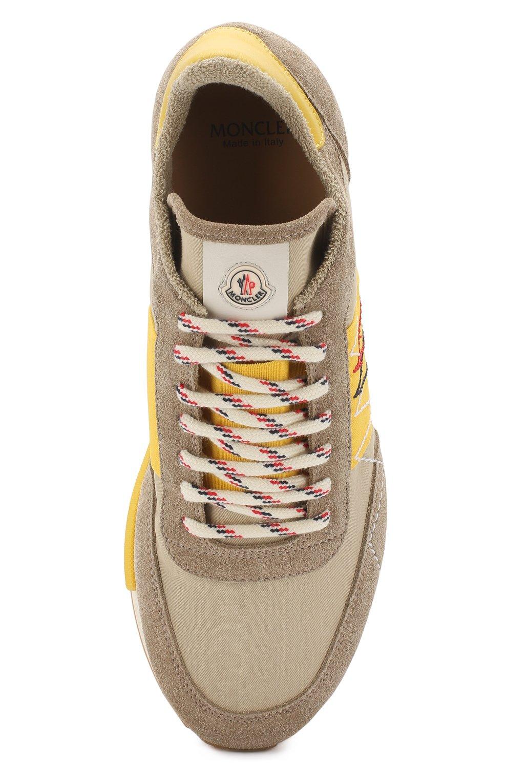 Мужские комбинированные кроссовки на шнуровке MONCLER коричневого цвета, арт. D1-09A-10191-00-019NF | Фото 5