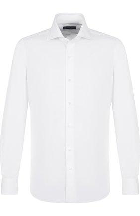 Мужская хлопковая сорочка с воротником акула ANDREA CAMPAGNA белого цвета, арт. PIQUET 70 F 351677 | Фото 1