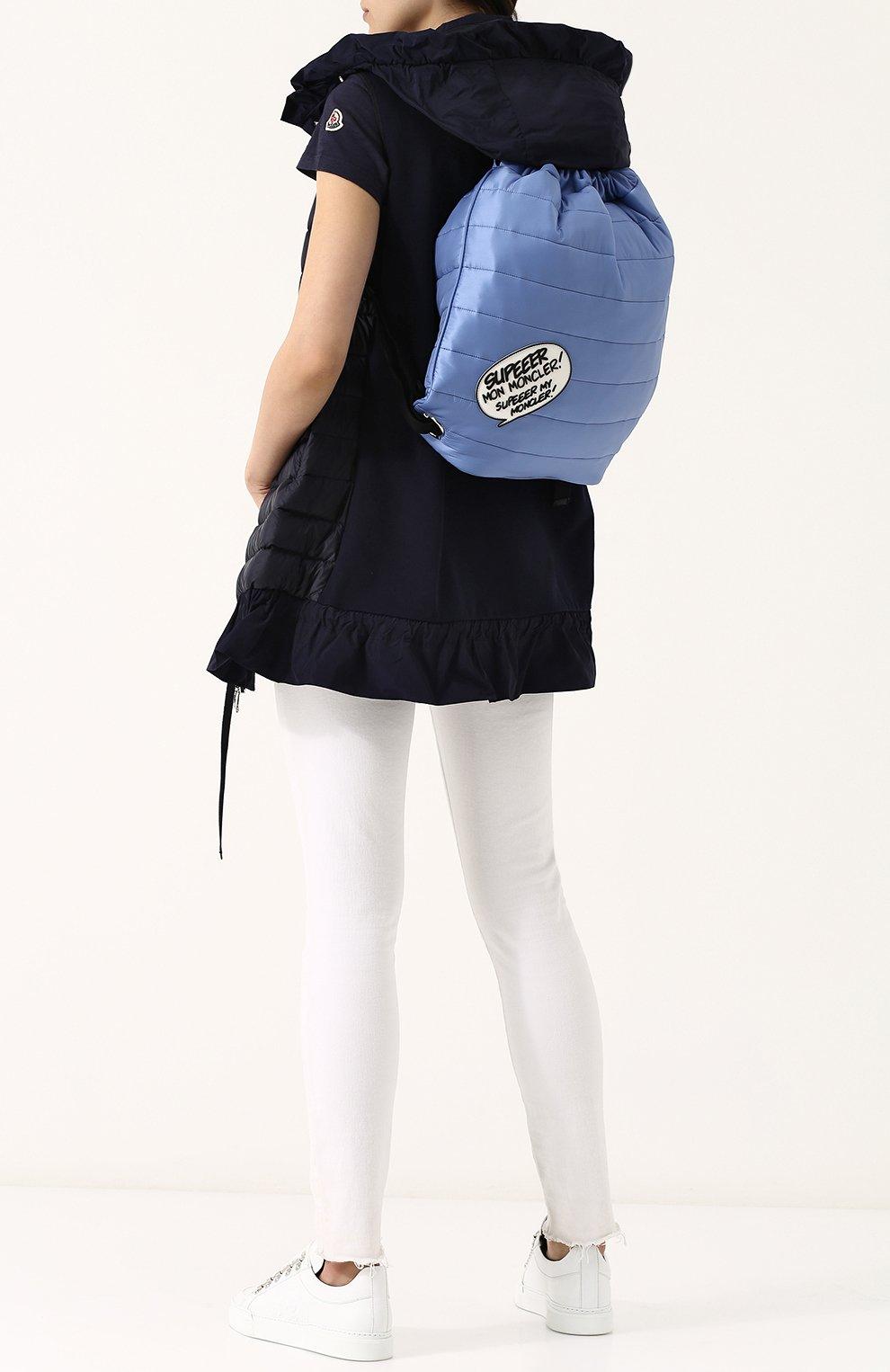 Рюкзак из текстиля с аппликацией | Фото №2