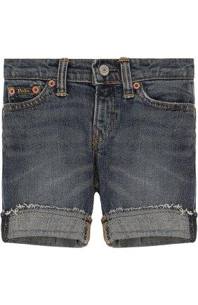 Джинсовые шорты с отворотами   Фото №1