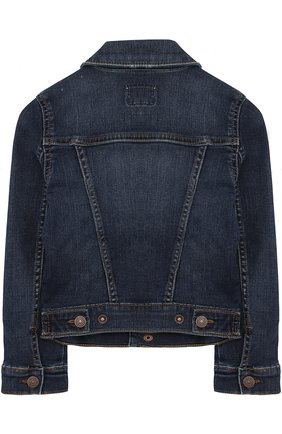 Джинсовая куртка с декоративными потертостями | Фото №2