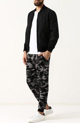Льняные джоггеры с карманами Gemma. H черные | Фото №1