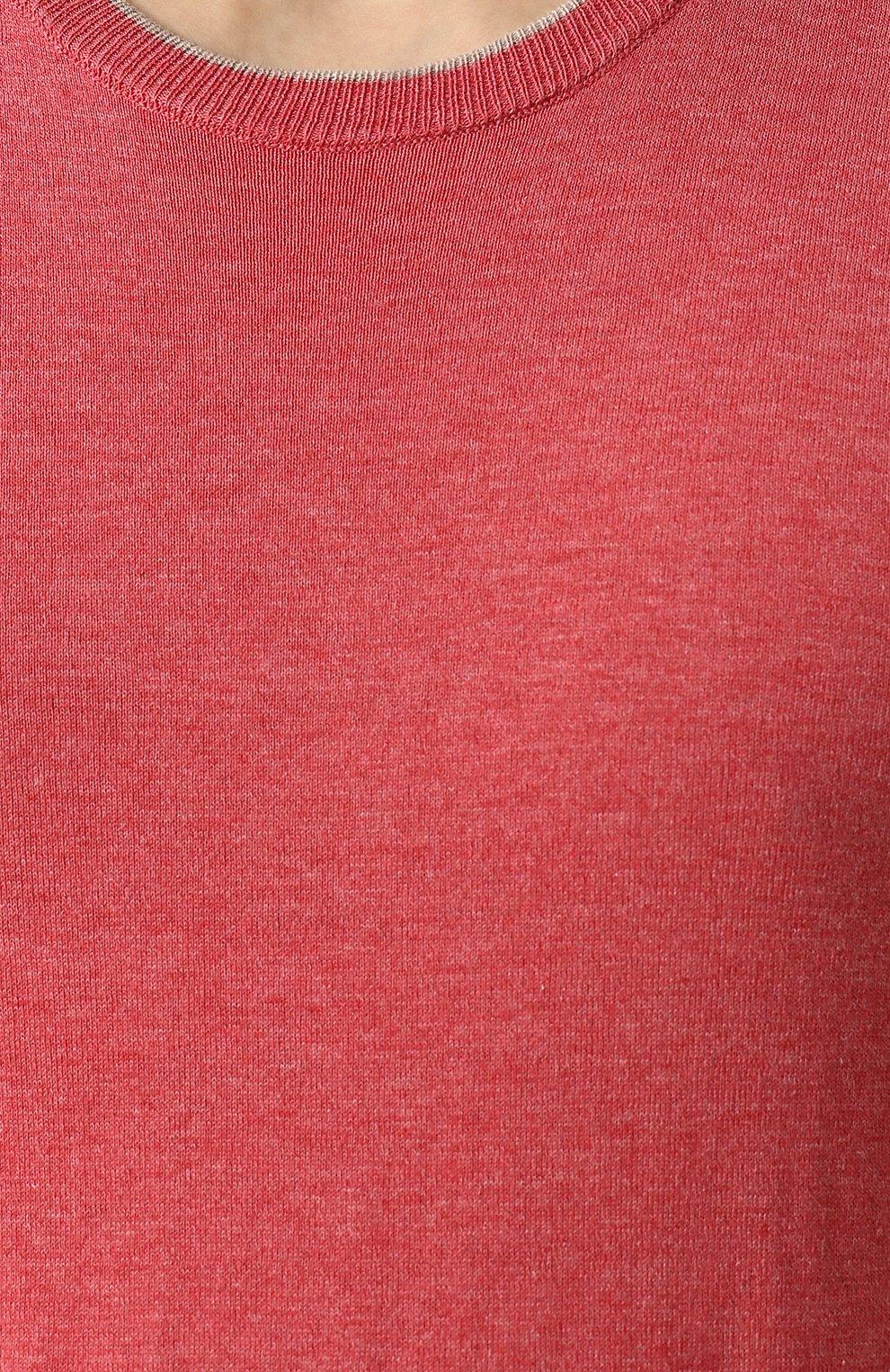 Хлопковый джемпер тонкой вязки | Фото №5