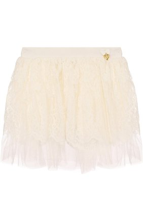 Кружевная юбка свободного кроя | Фото №1