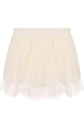 Кружевная юбка свободного кроя | Фото №2